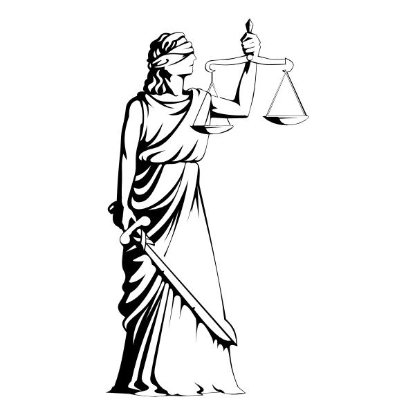 Deusa Themis ,Logo , icon , SVG Deusa Themis