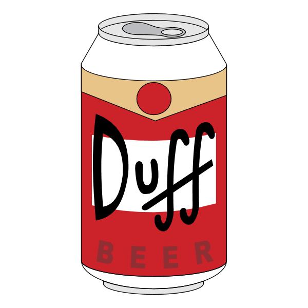 Duff Beer ,Logo , icon , SVG Duff Beer