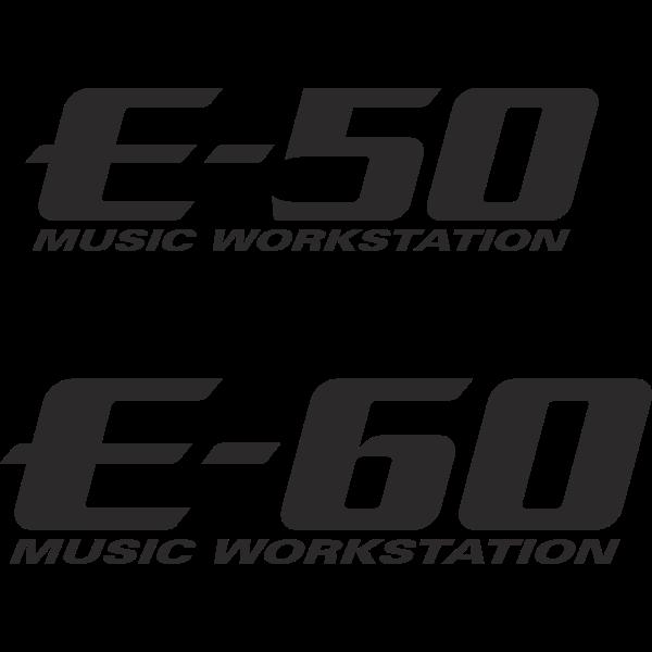 E-50 E-60 Music Workstation Logo ,Logo , icon , SVG E-50 E-60 Music Workstation Logo