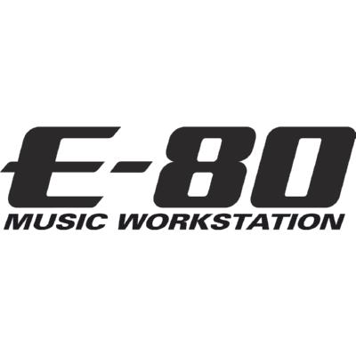 E-80 Music Workstation Logo ,Logo , icon , SVG E-80 Music Workstation Logo