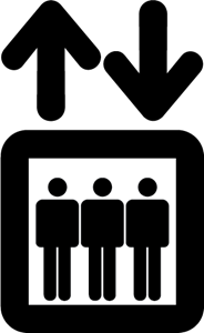 ELEVATOR SIGN Logo ,Logo , icon , SVG ELEVATOR SIGN Logo