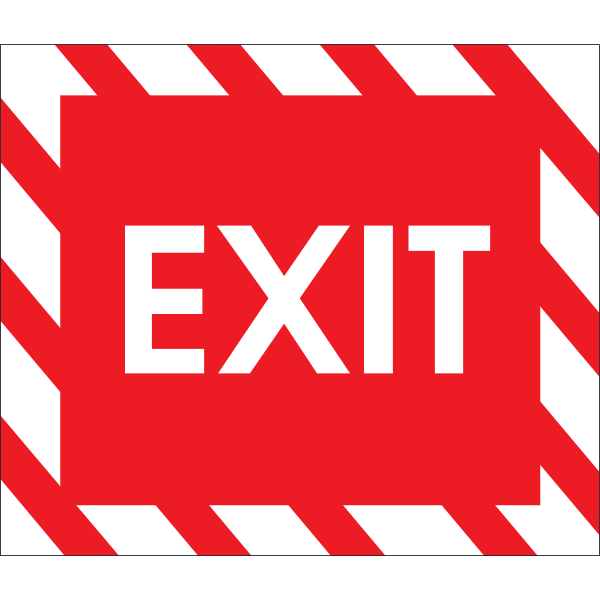 EXIT RED ROAD SIGN Logo ,Logo , icon , SVG EXIT RED ROAD SIGN Logo