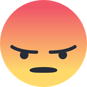 Facebook Angry Emoji Emoticon Logo ,Logo , icon , SVG Facebook Angry Emoji Emoticon Logo