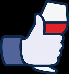 Facebook like wine icon Logo ,Logo , icon , SVG Facebook like wine icon Logo