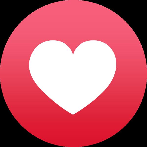 Facebook Reaction: Love ,Logo , icon , SVG Facebook Reaction: Love