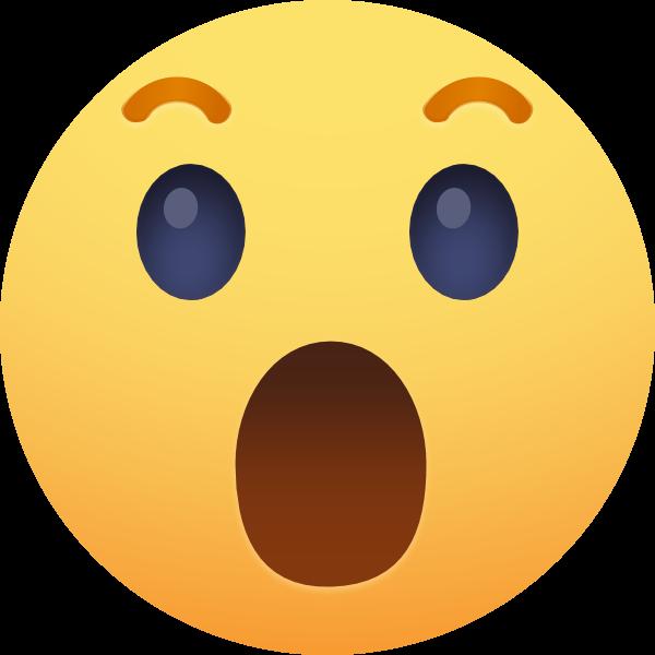 Facebook Reaction: Wow ,Logo , icon , SVG Facebook Reaction: Wow
