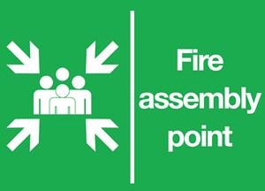 Fire Assembly Point Logo ,Logo , icon , SVG Fire Assembly Point Logo
