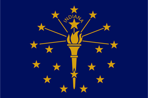 FLAG OF INDIANA Logo ,Logo , icon , SVG FLAG OF INDIANA Logo