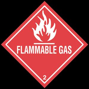 FLAMMABLE GAS Logo ,Logo , icon , SVG FLAMMABLE GAS Logo