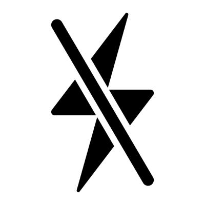 flash off ,Logo , icon , SVG flash off