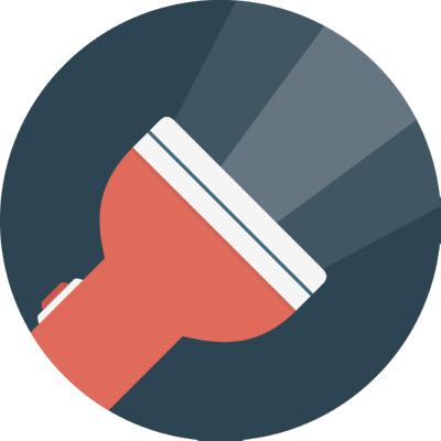 flashlight ,Logo , icon , SVG flashlight
