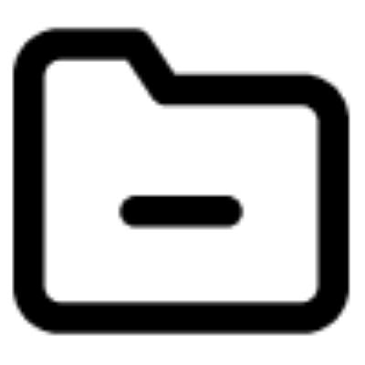 folder minus ,Logo , icon , SVG folder minus