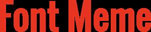 Font Meme Logo ,Logo , icon , SVG Font Meme Logo