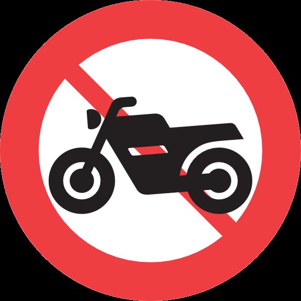 FORBIDDEN FOR MOTORCYCLES SIGN Logo ,Logo , icon , SVG FORBIDDEN FOR MOTORCYCLES SIGN Logo