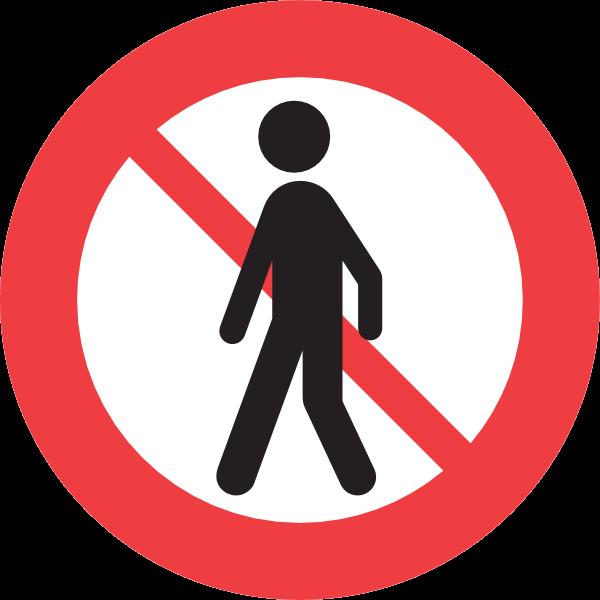 FORBIDDEN FOR PEDESTRIANS SIGN Logo ,Logo , icon , SVG FORBIDDEN FOR PEDESTRIANS SIGN Logo
