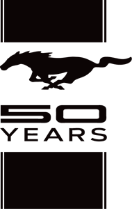 Ford Mustang 50 Years Logo ,Logo , icon , SVG Ford Mustang 50 Years Logo