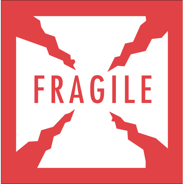 FRAGILE WARNING LABEL Logo ,Logo , icon , SVG FRAGILE WARNING LABEL Logo