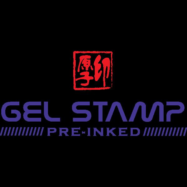 Gel Stamp Pre-Inked Logo ,Logo , icon , SVG Gel Stamp Pre-Inked Logo