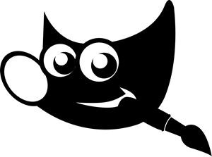GIMP Monochrome Logo ,Logo , icon , SVG GIMP Monochrome Logo
