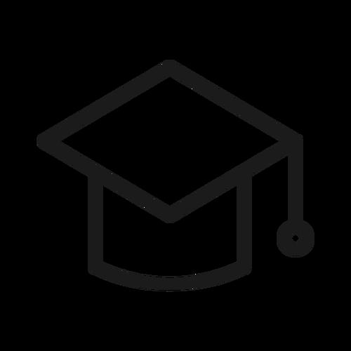 graduation cap ,Logo , icon , SVG graduation cap
