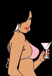 GTA Vice City Woman Logo ,Logo , icon , SVG GTA Vice City Woman Logo