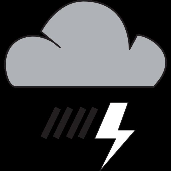 HEAVY RAIN WEATHER SYMBOL Logo ,Logo , icon , SVG HEAVY RAIN WEATHER SYMBOL Logo