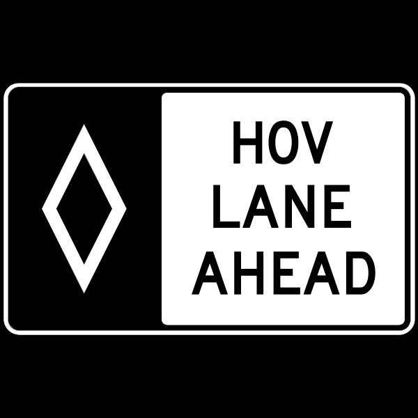 HOV LANE AHEAD ROAD SIGN Logo ,Logo , icon , SVG HOV LANE AHEAD ROAD SIGN Logo