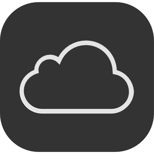 iCloud ,Logo , icon , SVG iCloud