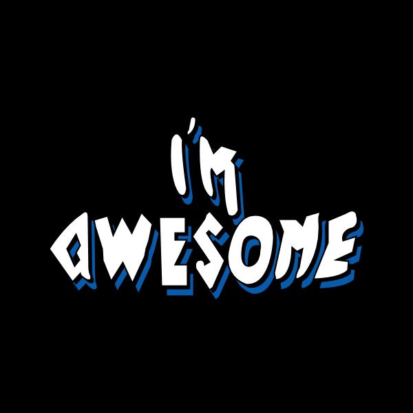 I'm Awesome Logo ,Logo , icon , SVG I'm Awesome Logo