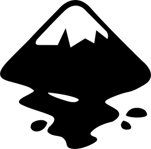 Inkscape Monochrome Logo ,Logo , icon , SVG Inkscape Monochrome Logo