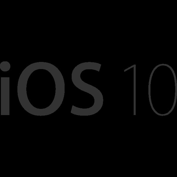 iOS 10 ,Logo , icon , SVG iOS 10