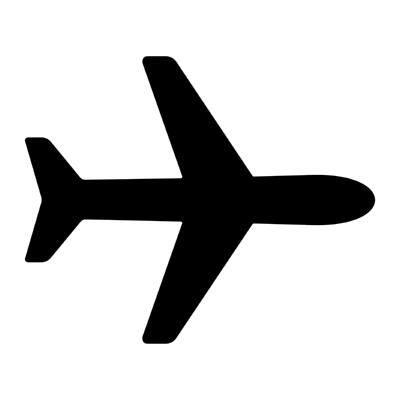 ios airplane ,Logo , icon , SVG ios airplane