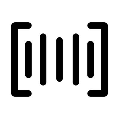 ios barcode ,Logo , icon , SVG ios barcode