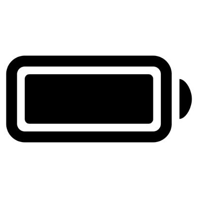 ios battery full ,Logo , icon , SVG ios battery full