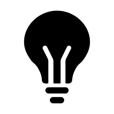 ios bulb ,Logo , icon , SVG ios bulb