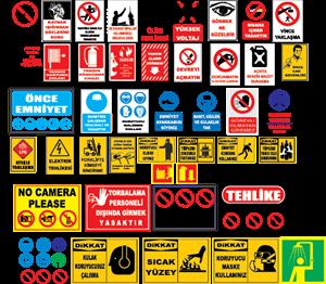 İş Güvenliği Levhaları Logo ,Logo , icon , SVG İş Güvenliği Levhaları Logo