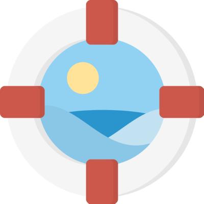 lifebelt ,Logo , icon , SVG lifebelt