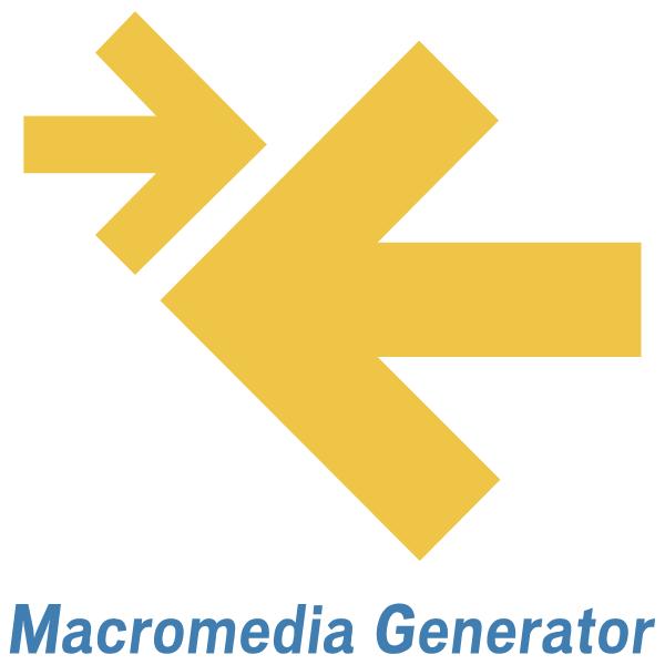 Macromedia Generator ,Logo , icon , SVG Macromedia Generator