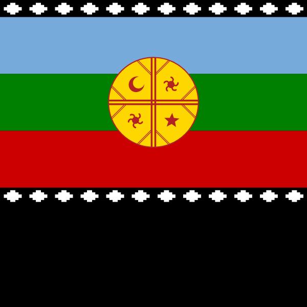 Mapuche Flag ,Logo , icon , SVG Mapuche Flag