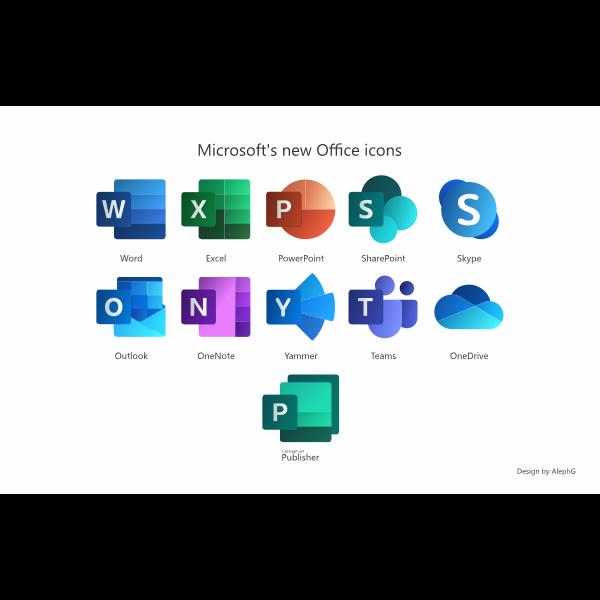 Microsoft Ofiice New Icons Logo ,Logo , icon , SVG Microsoft Ofiice New Icons Logo