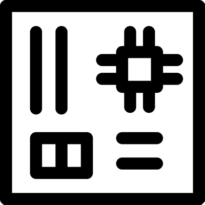 motherboard ,Logo , icon , SVG motherboard