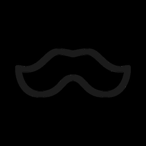 moustache ,Logo , icon , SVG moustache