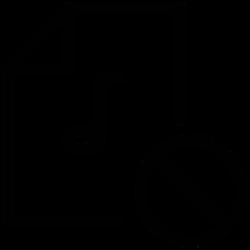 Prohibited sound ,Logo , icon , SVG Prohibited sound