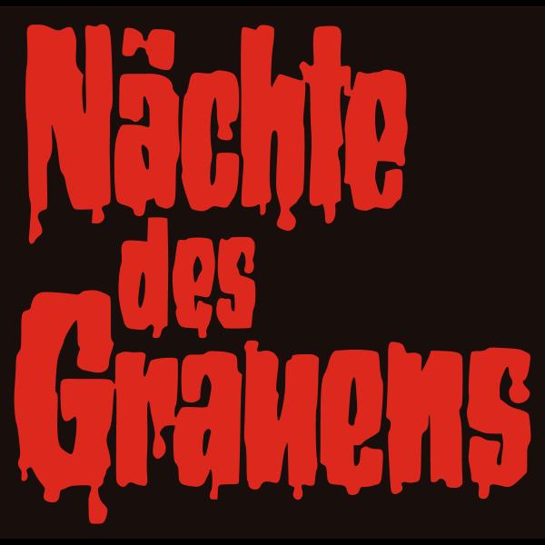 Nächte des Grauens deutscher Schriftzug ,Logo , icon , SVG Nächte des Grauens deutscher Schriftzug