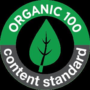 organic 100 content standard Logo ,Logo , icon , SVG organic 100 content standard Logo