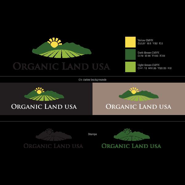 Organic Land USA Logo ,Logo , icon , SVG Organic Land USA Logo