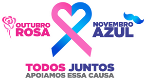 Outubro Rosa / Novembro Azul Logo ,Logo , icon , SVG Outubro Rosa / Novembro Azul Logo