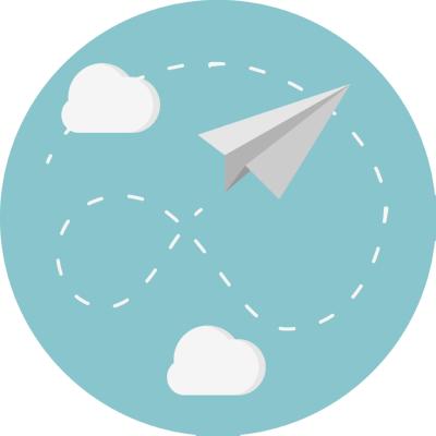 paper plane ,Logo , icon , SVG paper plane