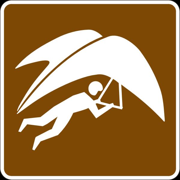 PARAGLIDING AREA SIGN Logo ,Logo , icon , SVG PARAGLIDING AREA SIGN Logo