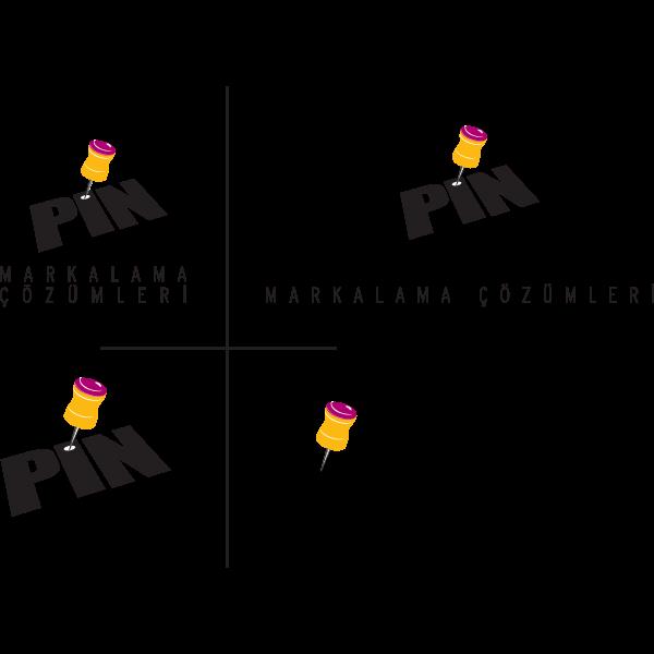 Pin Markalama Çözümleri Logo ,Logo , icon , SVG Pin Markalama Çözümleri Logo